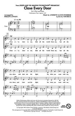 Andrew Lloyd Webber: Close Every Door: Arr. (Philip Lawson): 2-Part Choir