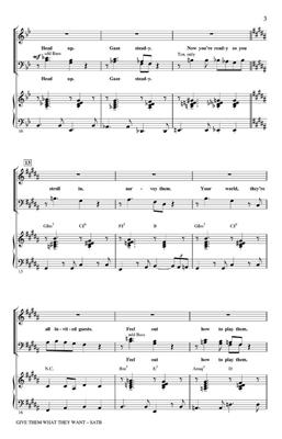 David Yazbek: Give Them What They Want (SATB): Mixed Choir