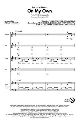 Claude-Michel Schönberg: On My Own: Arr. (Philip Lawson): SATB