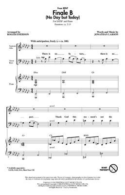 Jonathan Larson: Finale B: Mixed Choir