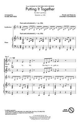 Stephen Sondheim: Putting It Together: Women's Choir