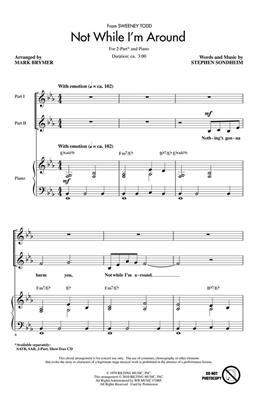 Stephen Sondheim: Not While I'm Around: Arr. (Mark Brymer): Vocal
