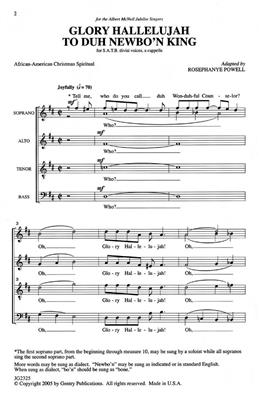 Rosephanye Powell: Glory Hallelujah To The Newborn King: SATB