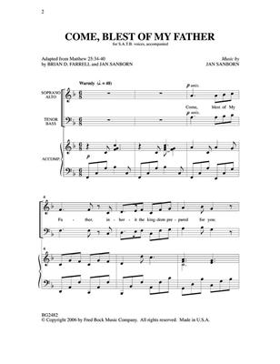 Jan Sanborn: Come Ble Of My Father: Mixed Choir