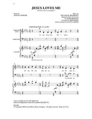 Claude Debussy: Jesus Loves Me: Mixed Choir