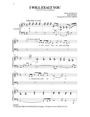 John Jensen: I Will Exalt You: Arr. (Lloyd Larson): Mixed Choir