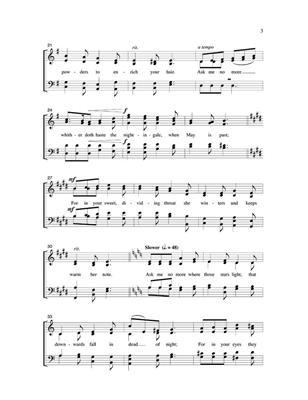 Robert H. Young: Ask Me No More: Mixed Choir
