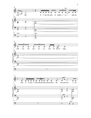 J.A.C. Redford: Love Never Fails With Cello Part: Mixed Choir