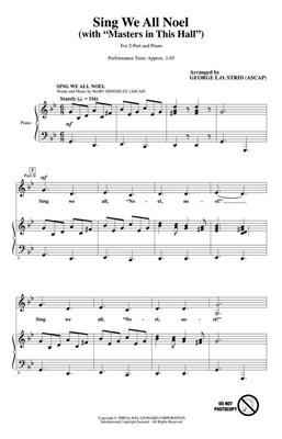 Mary Donnelly: Sing We All Noel: Arr. (George L.O. Strid): 2-Part Choir