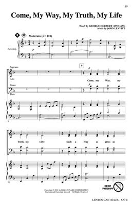 Lenten Canticles: Arr. (John Leavitt): SATB