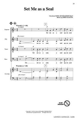 Lenten Canticles: Arr. (John Leavitt): Mixed Choir