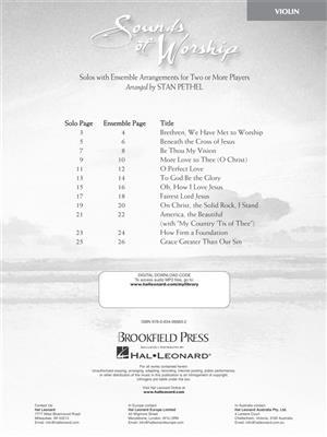 Sounds of Worship: Arr. (Stan Pethel): Violin