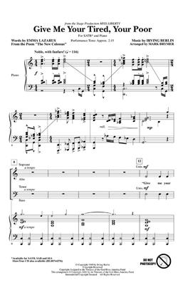 Irving Berlin: Give Me Your Tired, Your Poor: Arr. (Mark Brymer): SATB