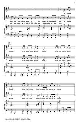 Hallelujah, get on Board: Arr. (Rollo Dilworth): 2-Part Choir