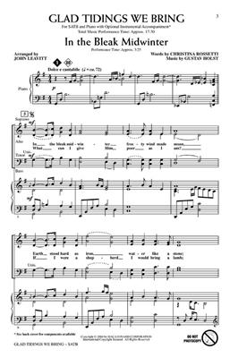 Glad Tidings we bring: Arr. (John Leavitt): SATB