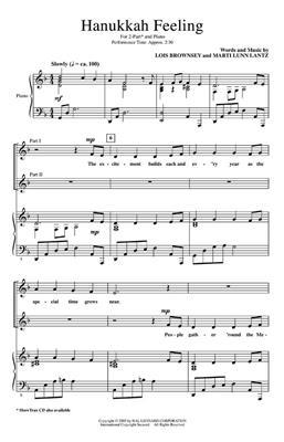 Lois Brownsey: Hanukkah Feeling: 2-Part Choir