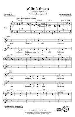Irving Berlin: White Christmas: Arr. (Mark Brymer): 2-Part Choir