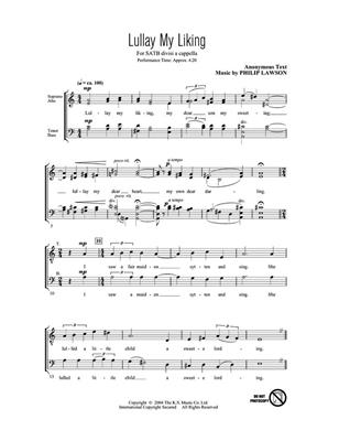 Lullay my Liking: Arr. (Philip Lawson): SATB