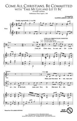 Come, All Christians, Be Committed: Arr. (Lloyd Larson): SATB