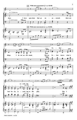 Cindy Berry: This I Know!: SATB
