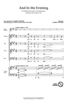 Audrey Snyder: And In The Evening: SATB