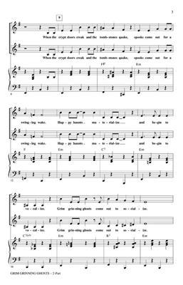 Grim Grinning Ghosts: Arr. (Roger Emerson): 2-Part Choir