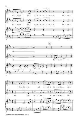 Emily Crocker: Benedictus And Hosanna (2-Part): 2-Part Choir