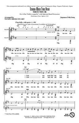 Toshima Mochi Tsuki Bushi: Arr. (Wendy Bross Stuart): Mixed Choir