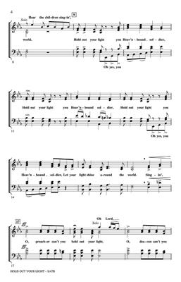 Hold Out Your Light: Arr. (Moses Hogan): SATB