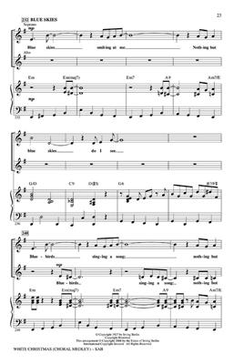 Irving Berlin: White Christmas Choral Medley: Arr. (Mac Huff): SAB