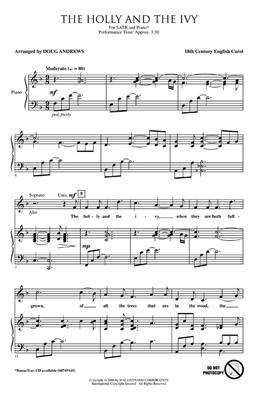 The Holly And The Ivy (Arr. Andrews - SATB): Arr. (Doug Andrews): SATB