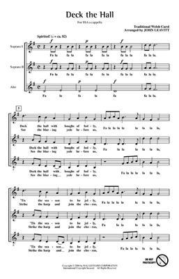 Women sing at Christmas: Arr. (John Leavitt): SSA