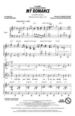 Richard Rodgers: My Romance: Arr. (Mark Brymer): SATB