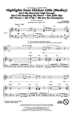 Highlights From Chicken Little (Medley): Arr. (Audrey Snyder): 2-Part Choir
