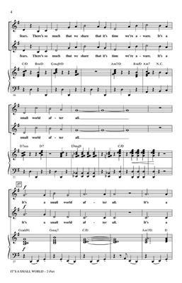 Richard M.  Sherman: It's a Small World: Arr. (Mark Brymer): 2-Part Choir