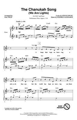 Stephen Schwartz: The Chanukah Song We Are Lights: Arr. (Mac Huff): SSA