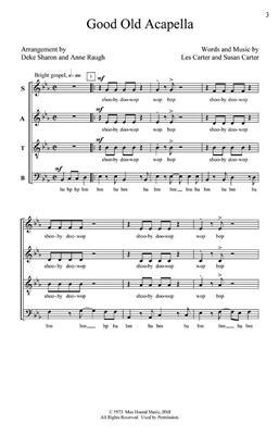 L. Carter: Good Old A Cappella: Arr. (Deke Sharon): SATB