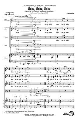 Hal Leonard: Shine, Shine, Shine