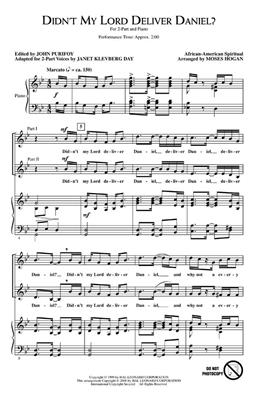 Didn't My Lord Deliver Daniel?: Arr. (Janet Klevberg Day): 2-Part Choir