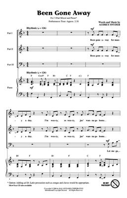 Audrey Snyder: Been Gone Away: 3-Part Choir