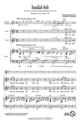 Audrey Snyder: Hanukkah Wish: 2-Part Choir