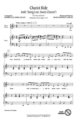 Mary Donnelly: Chariot Ride with Swing Low, Sweet Chariot: Arr. (George L.O. Strid): 2-Part Choir