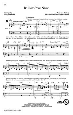 Christ Above All: Arr. (Mark Brymer): SATB