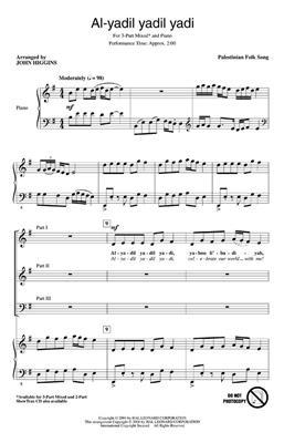 Al-yadil yadil yadi: Arr. (John Higgins): 3-Part Choir