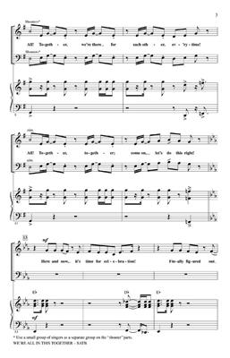 We're All In This Together (High School Musical) : Arr. (Alan Billingsley): SATB