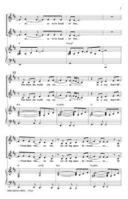 Roger Emerson: Breaking Free (High School Musical) - 2-Part: Mixed Choir