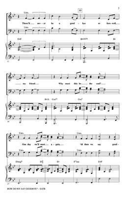 Mark Brymer: How Do We Say Goodbye?: Mixed Choir