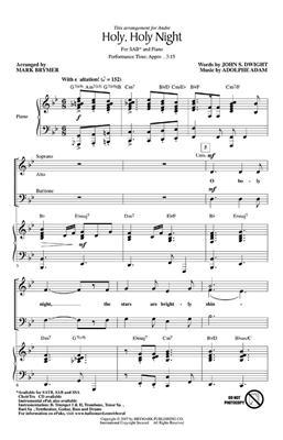 Adolphe Charles Adam: Holy, Holy Night: Arr. (Mark Brymer): SAB