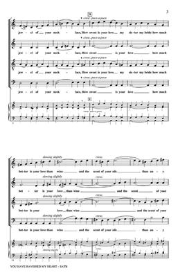Stephen Chatman: You Have Ravished My Heart: SATB