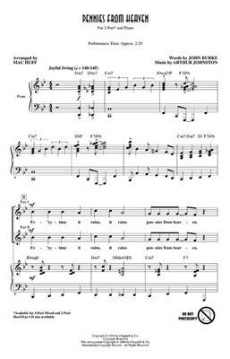 Arthur Johnston: Pennies from Heaven: Arr. (Mac Huff): 2-Part Choir